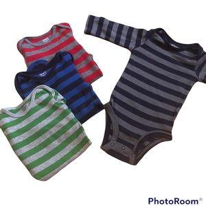 3/$12 ⭐️ Carter's Long Sleeved Bodysuit Bundle 3m